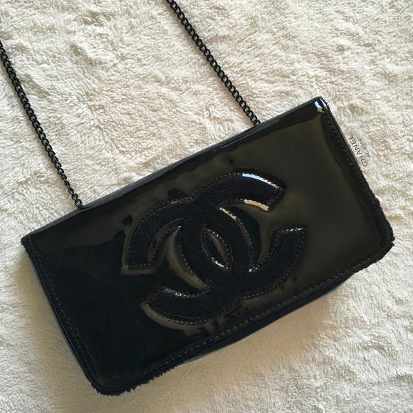 d35d56c5e46702 CHANEL Bags | Vip Black Crossbody Clutch Makeup Bag | Poshmark